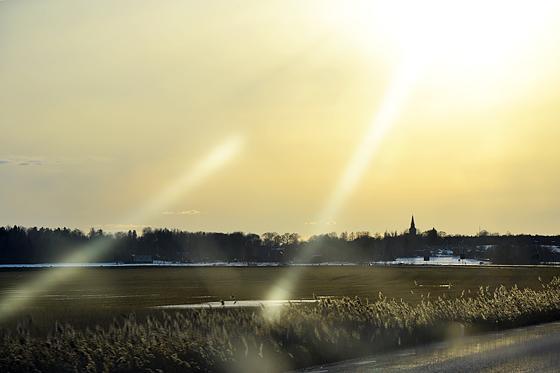 Solnedgång kyrktorn
