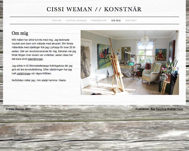 Cissi Weman Om