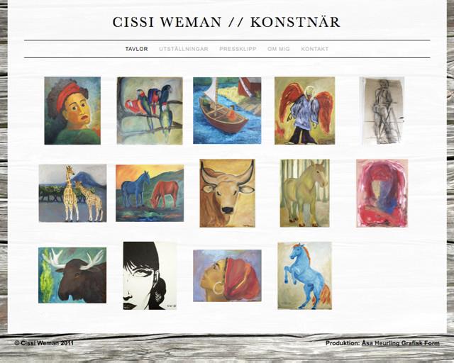 Cissi Weman Startsida
