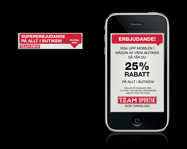 Mobilkampanj Team Sportia
