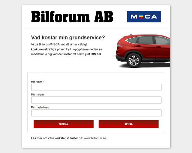 Bilforum Kampanjsida