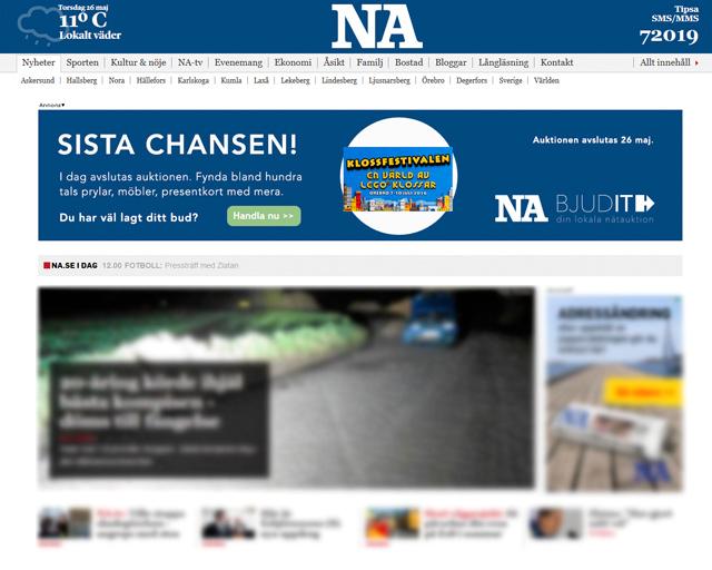 Animerad webbanons i html5 för Bjudit Nätauktion