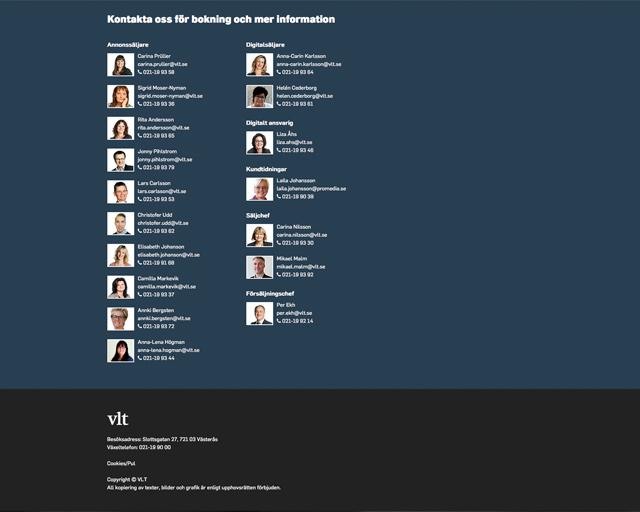 Annonswebb för VLT