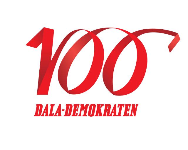 Dala-Demokraten 100 år - kampanjlogo